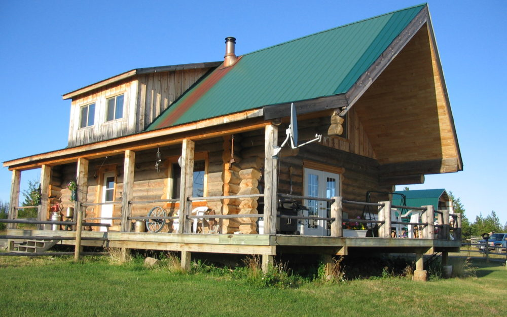 Lazy JR Ranch > Vanderhoof | 160 Acres | Log Home | Riding Arena | Workshop, Log Barn & Greenhouse