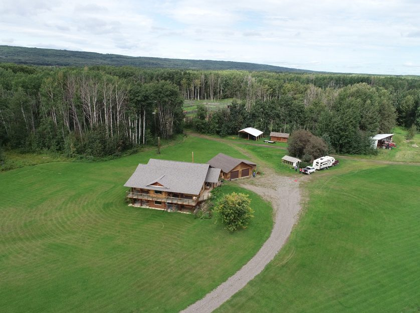 954 Jackfish Lake Road > Chetwynd, BC | 4130 Contiguous Acres | 1000 Acres Hay Land | 4634 sq.ft. Timber Log Home | Runs 300 C/C Pairs+180-240 Yearlings