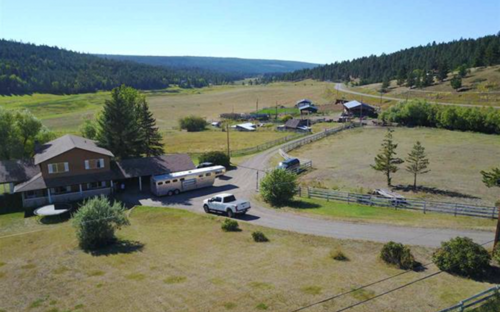 1690 Chimney Lake Road > Williams Lake, BC | 142 Acres | 5 Bedroom Home | 42 Acres Hay | 84×40 Hay Shed | 320ft Pivot Irrigation | Equine/Livestock Shelters | Riding Arena