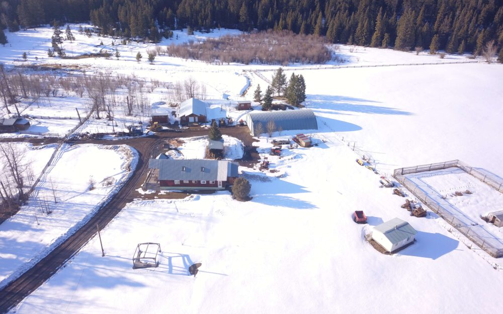 3840 Dog Creek Rd. Williams Lake, BC > 743 Acres in 5 Titles | Fenced & Xfenced | 5 Bedroom, 2 Bath Home | 8 Water Licences | Grazing Licence | 200 Acres Hay | 425 Acres Timber | 32 x50 Heated Workshop | 46×100′ Quonset Shop |