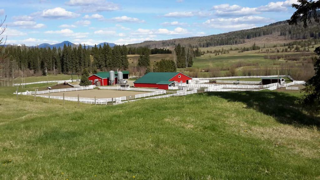 The Woodjam Ranch  Horsefly, BC > 2122 Acres | 10 kms Horsefly Riverfront | 80,000 Acre Grazing Licence | 600 Acres Hay | 2 Residences | Barn & Hay Sheds | Covered Cattle Handling System & Corrals | Heated Shop