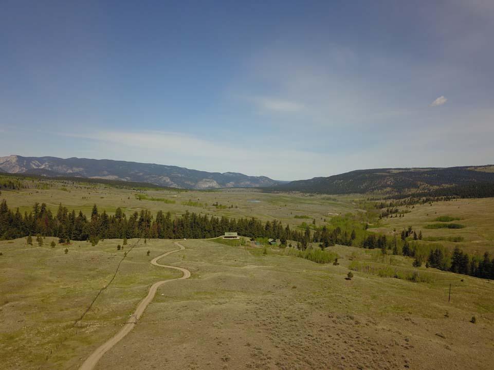 Carpe Diem  Hat Creek, BC> 163 Acres | 2 Year Round Creeks | 2 Bedroom Custom Timber Frame Home | Log Barn with Loft Office | Gardens | Chicken Coop | Grazing Land